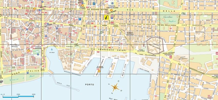 Cartina Sicilia Pdf.Mappa Di Palermo Cartina Interattiva E Download Mappe In Pdf Sicilia Info