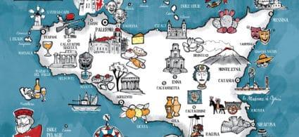 Mappa della Sicilia
