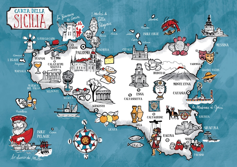 Cartina Dettagliata Sicilia Orientale.Mappa Della Sicilia Cartina Interattiva E Download Mappe In Pdf Sicilia Info