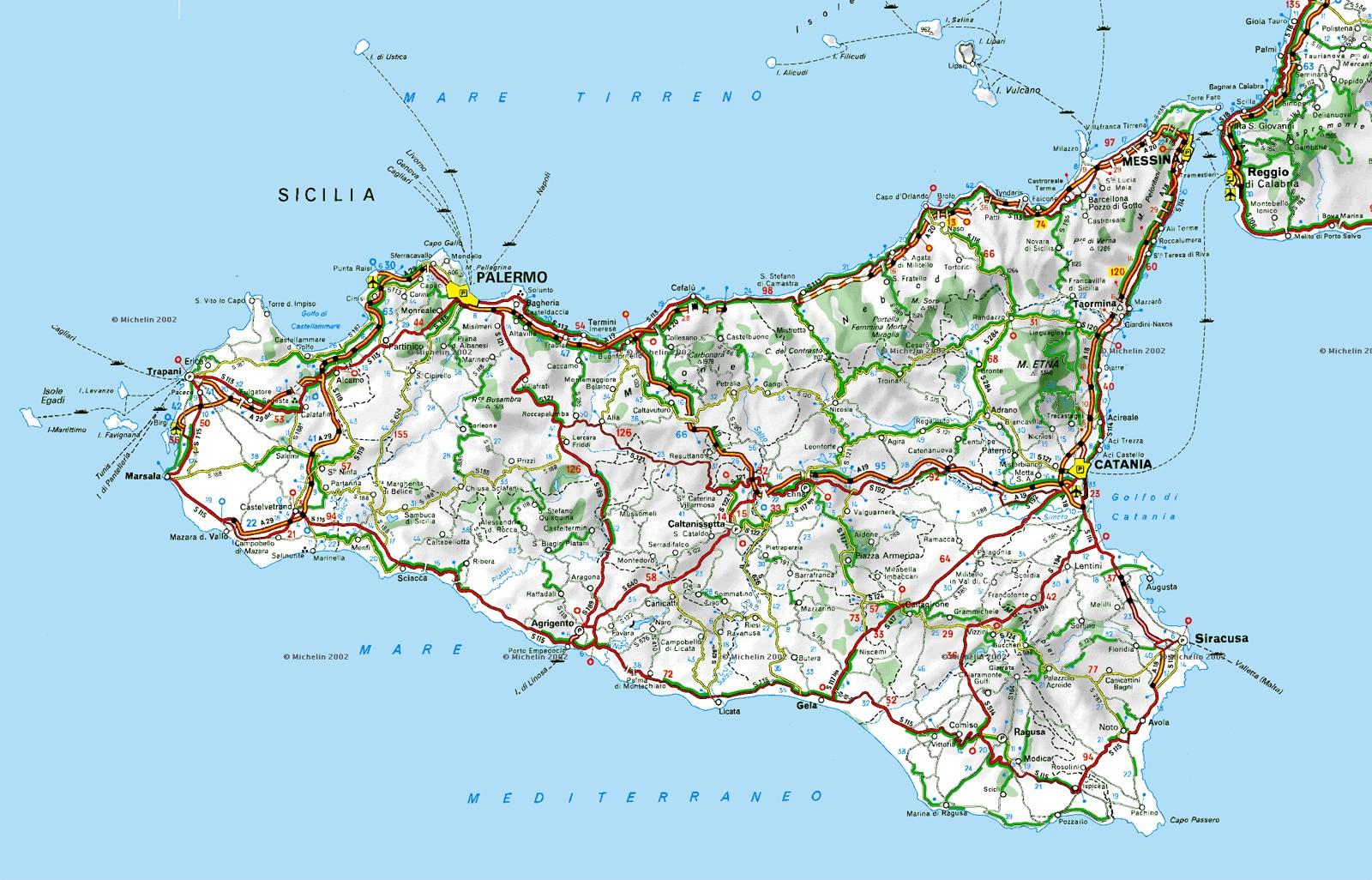 Cartina Sicilia Con Tutti I Comuni.Mappa Della Sicilia Cartina Interattiva E Download Mappe In Pdf Sicilia Info